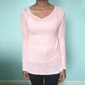 Powder Pink Linen Long Sleeve